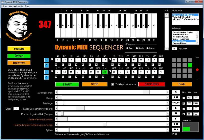 dynamic midi sequenzer sequencer