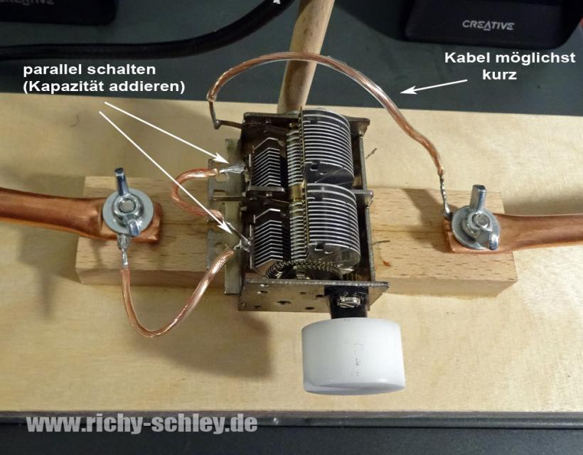 drehkondensator loop antenne