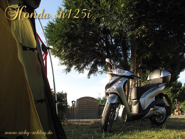 honda sh125i frankreich tour