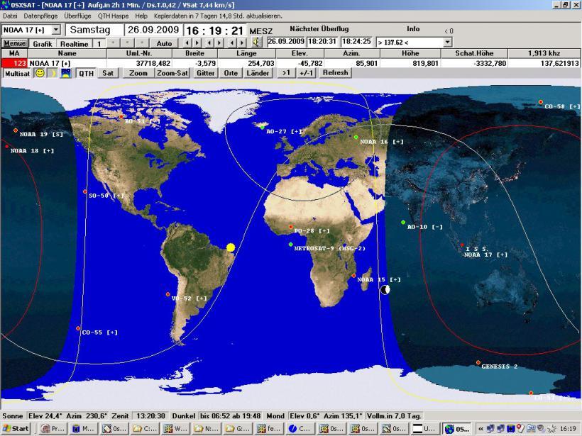 0sxsat satellit tracking