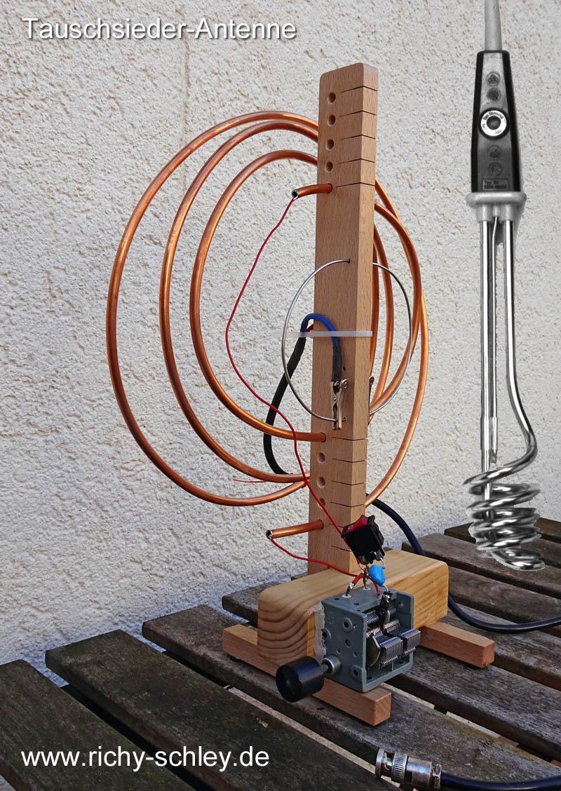 kupferspirale loop antenne