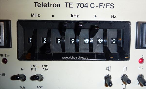 teletron 704 frequenzeingabe frequenzanzeige